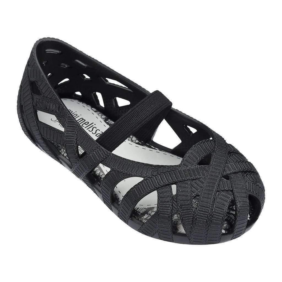 Mini Melissa Black Cutout Sandals-Shoes-Mini Melissa-kids atelier
