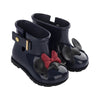Mini Melissa Black Rain + Disney Twins Rainboot-Shoes-Mini Melissa-kids atelier