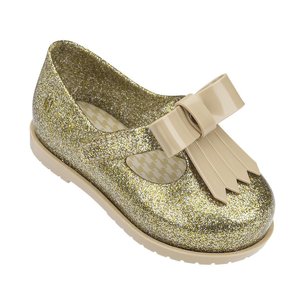 huge selection of best website buying now Mini Melissa Gold Glitter Mini Classic Shoes