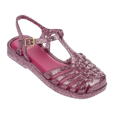 Mini Melissa Pink Mel Aranha Quadrada Sandals-Shoes-Mini Melissa-kids atelier