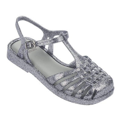 Mini Melissa Silver Mel Aranha Quadrada Sandals-Shoes-Mini Melissa-kids atelier