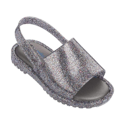 Mini Melissa Silver Mini MIA + Fabula II Sandal-Shoes-Mini Melissa-kids atelier