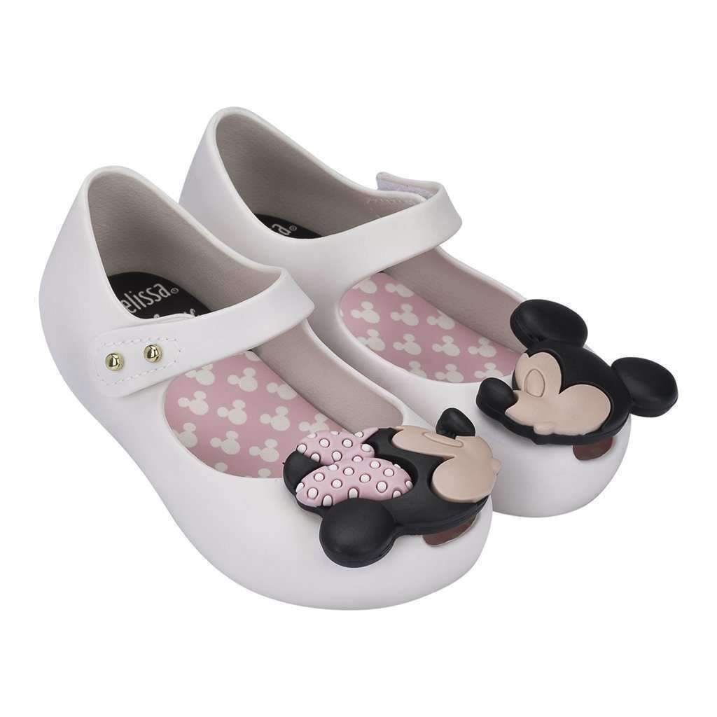 da08aac818ae2 Mini Melissa White Mickey Mouse Mary Janes-Shoes-Mini Melissa-kids atelier