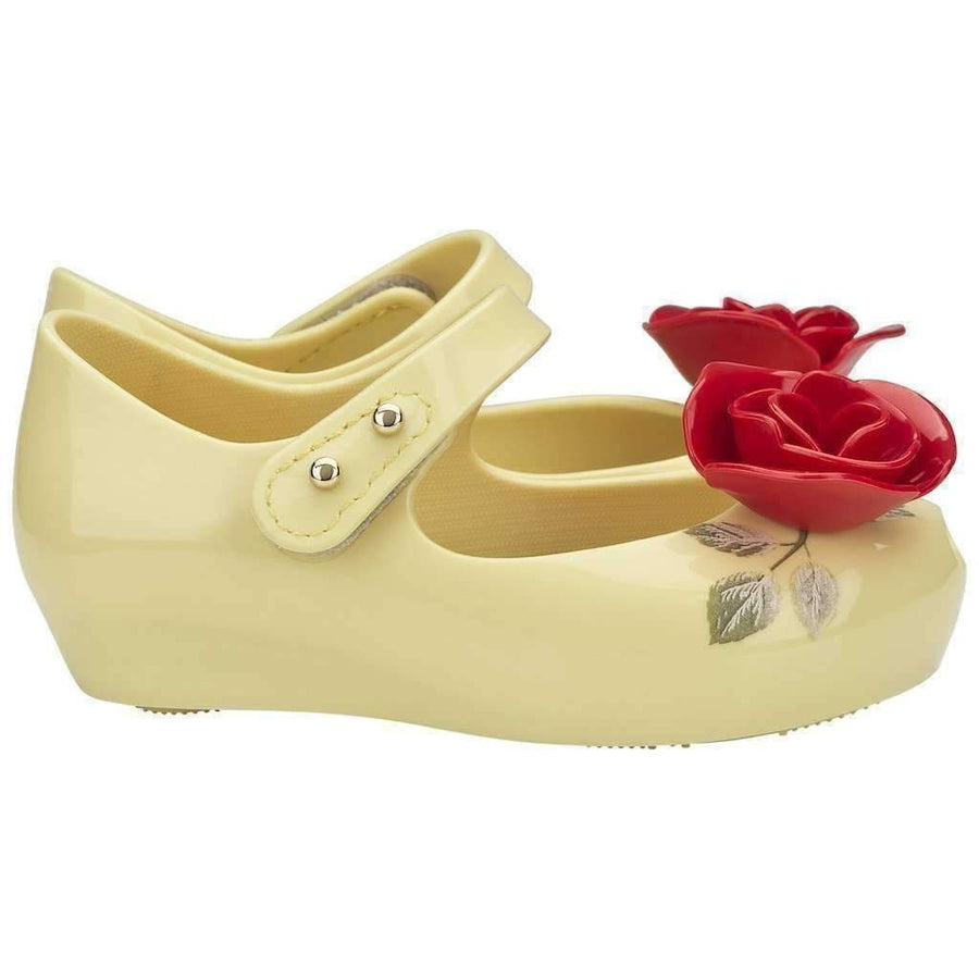 Mini Melissa Yellow Mini Ultragirl Beauty & The Beast-Shoes-Mini Melissa-kids atelier