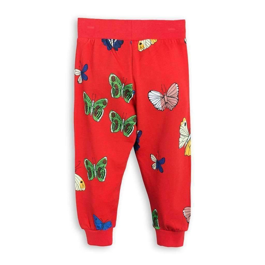 Mini Rodini Red Butterflies Sweatpants-Pants-Mini Rodini-kids atelier