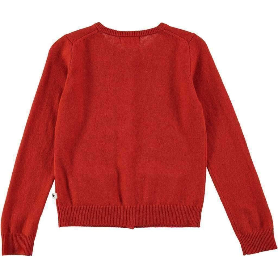 Molo Glory Poppy Red Cardigan