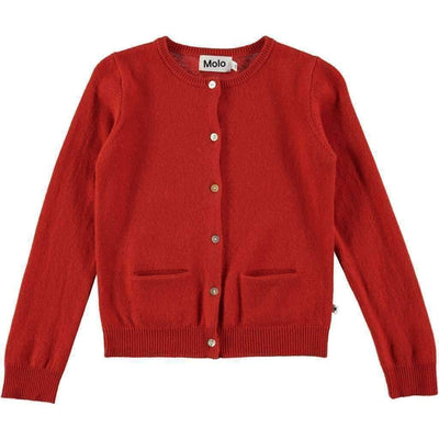 Molo Glory Poppy Red Cardigan-Outerwear-Molo-kids atelier