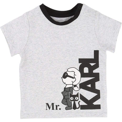 Mr. Karl Gray T-Shirt-Shirts-Karl Lagerfeld-kids atelier