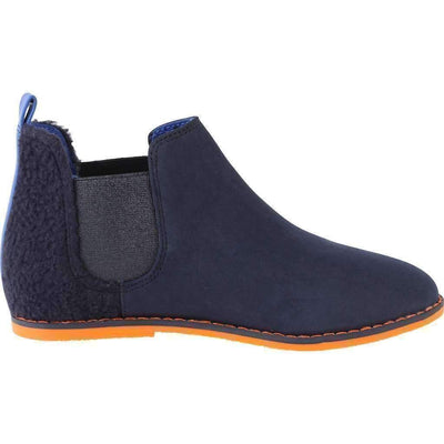 Navy Blue Ankle Boots-Shoes-Billybandit-kids atelier