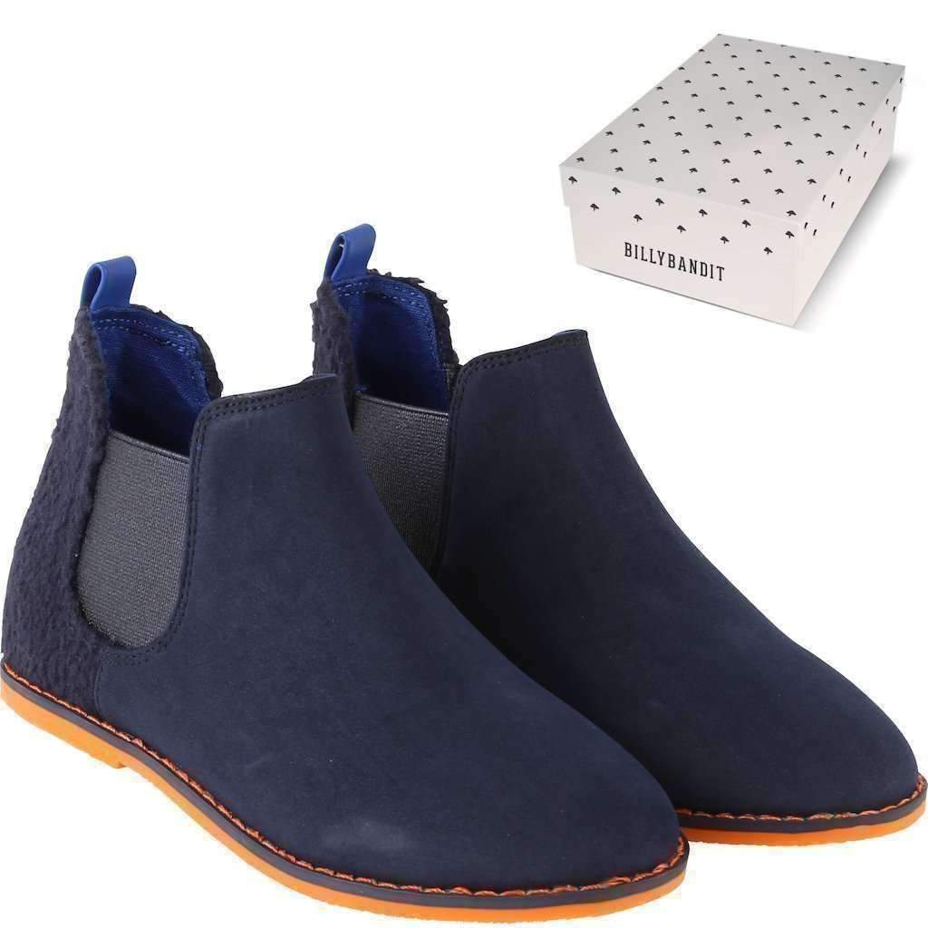 Navy Blue Ankle Boots Kids Atelier