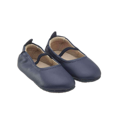 Navy Blue Ballet Flats-Shoes-Old Soles-kids atelier