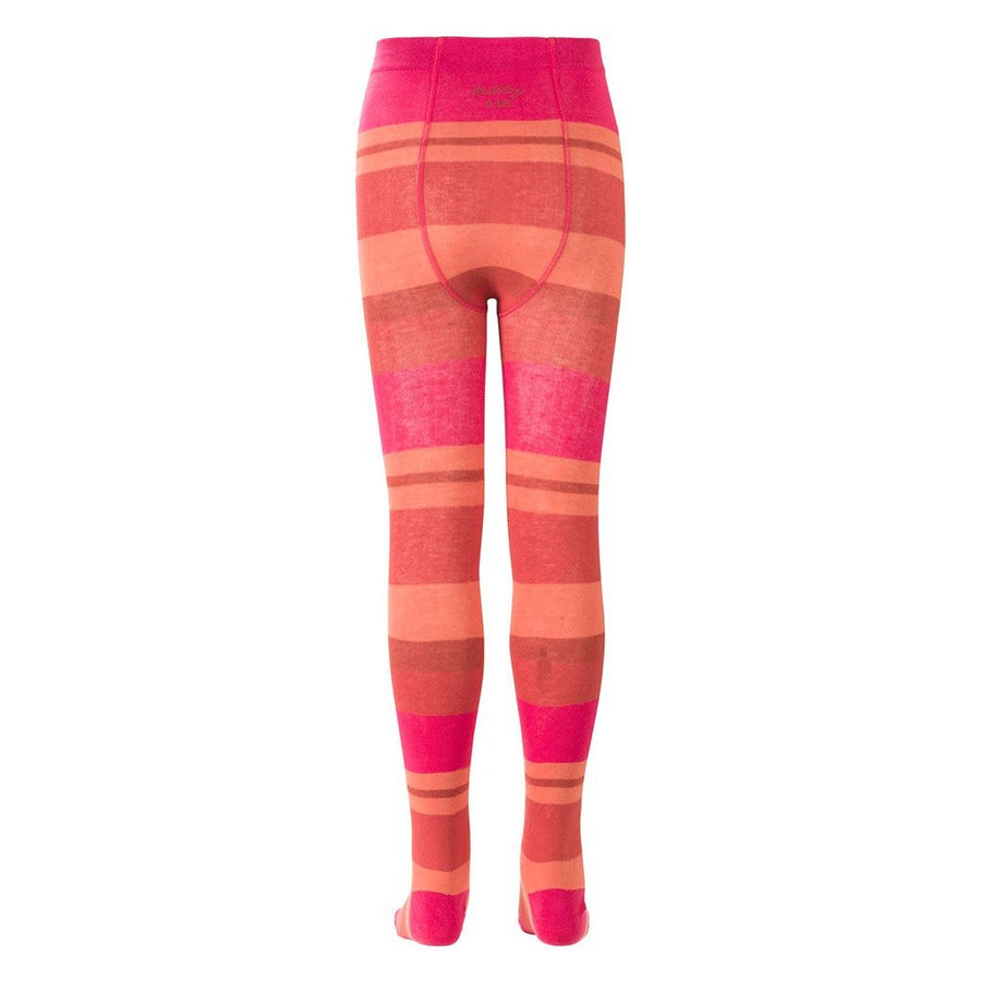Oilily Pink Salmon Striped Tights-Leggings-Oilily-kids atelier