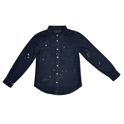 Olivia Black With Paint Shirt-Shirts-DL1961-kids atelier