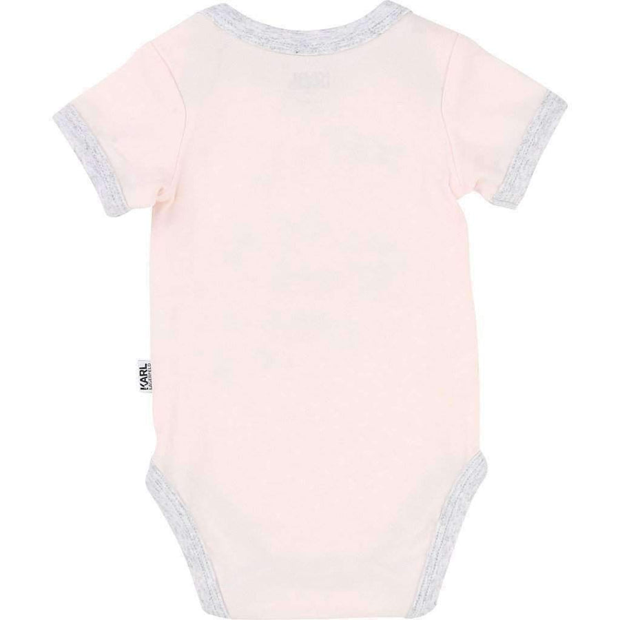 Pink Bodysuit & Bib Set