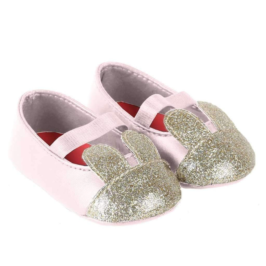Pink Glitter Rabbit Shoes