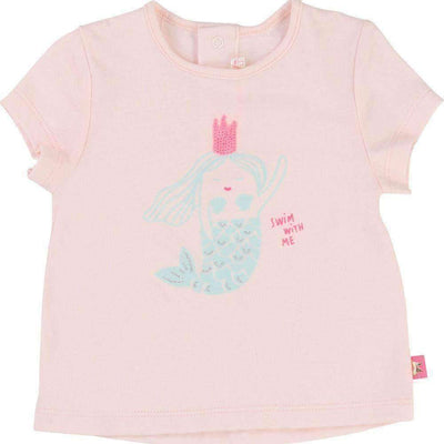 Pink Mermaid T-Shirt-Shirts-Billieblush-kids atelier