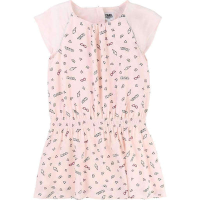 Pink Pop Karl Dress-Dresses-Karl Lagerfeld-kids atelier