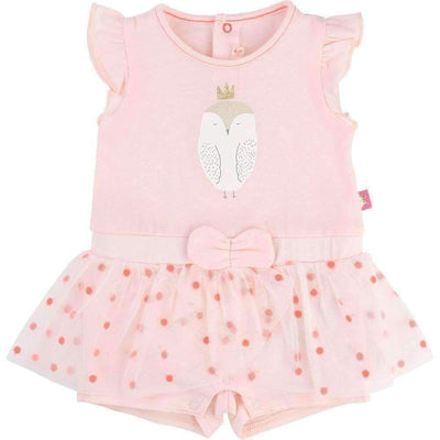 Pink Ruffle Owl Outfit-Outfits-Billieblush-kids atelier