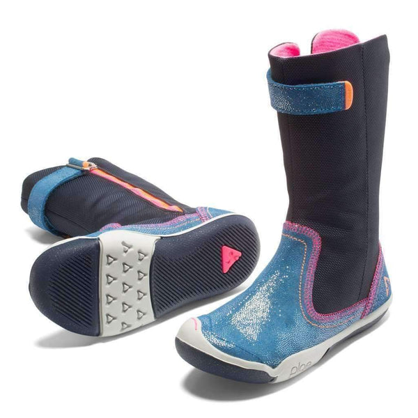 Plae Camille Shimmer Navy Boots - kids