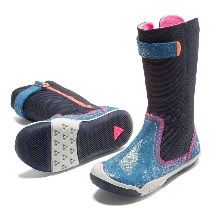 Plae Camille Shimmer Navy Boots-Shoes-Plae-kids atelier