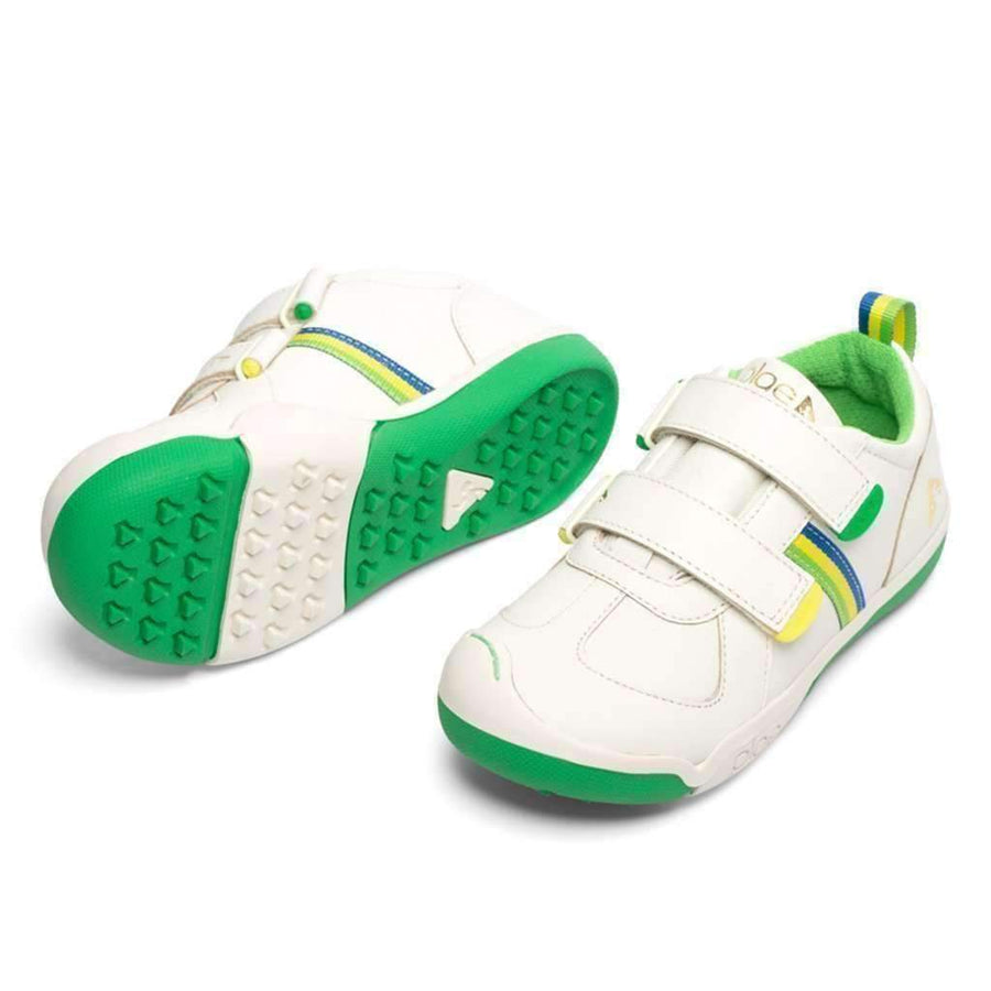 Plae Charlie Bright White & Green Sneaker
