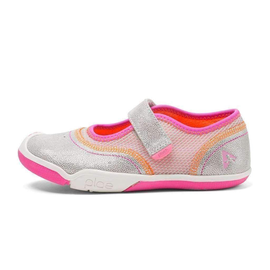 Plae Emme Silver and Pink Sneaker