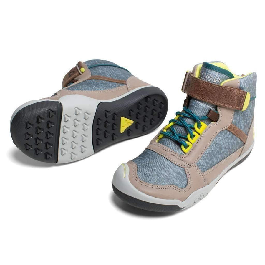 Plae Kaiden Gray Brown Hightop Shoes