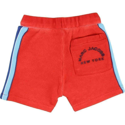 Red Drawstring Sweat Shorts-Shorts-Little Marc Jacobs-kids atelier
