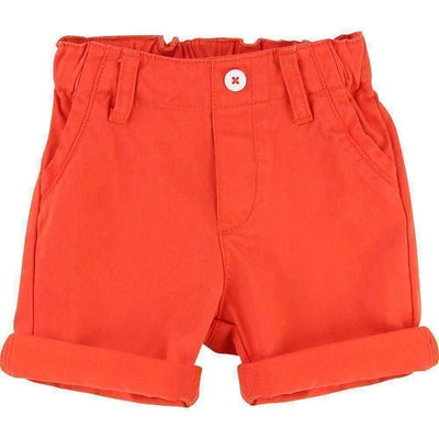 Red Orange Bermuda Shorts-Shorts-Billybandit-kids atelier