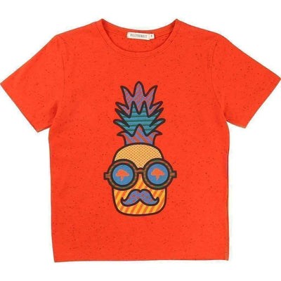 Red Pineapple T-Shirt-Shirts-Billybandit-kids atelier