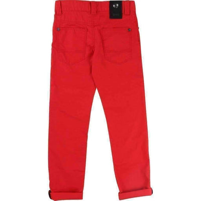 Red Twill Pants-Pants-BOSS-kids atelier