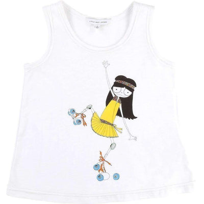 Rollerskate White Tank Top-Shirts-Little Marc Jacobs-kids atelier