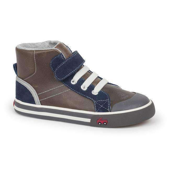 See Kai Run Brown & Blue High Top-Shoes-See Kai Run-kids atelier