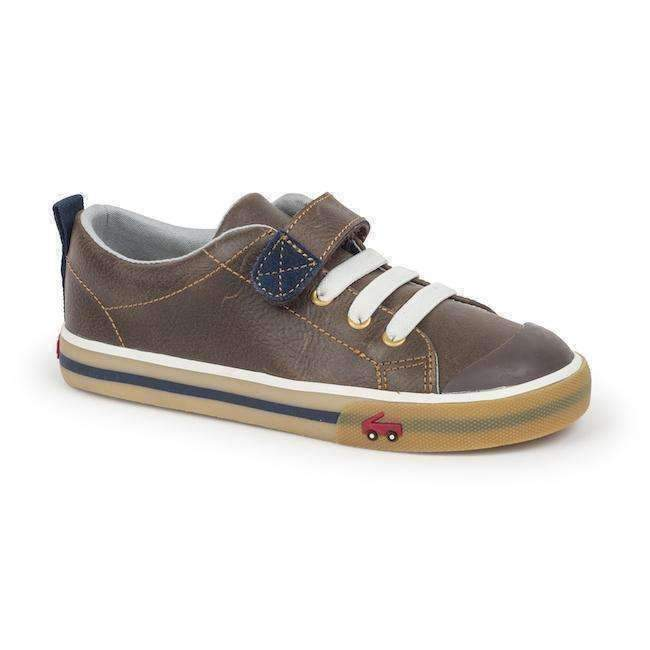 See Kai Run Brown Classic Sneakers-Shoes-See Kai Run-kids atelier