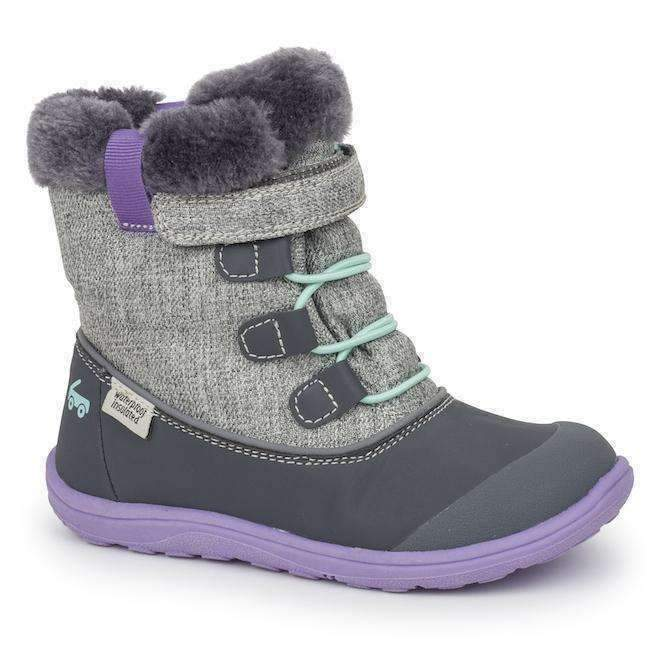 See Kai Run Gray & Purple Boot-Shoes-See Kai Run-kids atelier