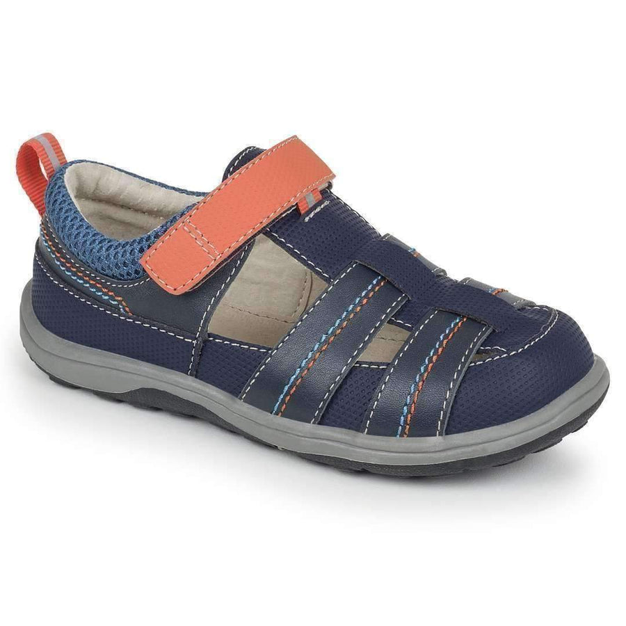 See Kai Run Navy & Orange Ryan II-Shoes-See Kai Run-kids atelier