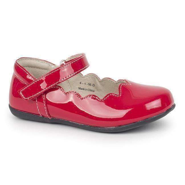 See Kai Run Red Scalloped Mary Janes-Shoes-See Kai Run-kids atelier