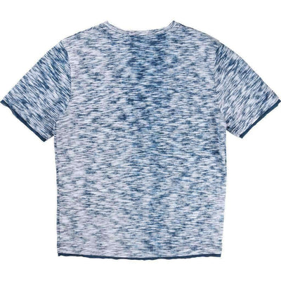 Short Sleeve Patterned Tee Shirt-Shirts-BOSS-kids atelier