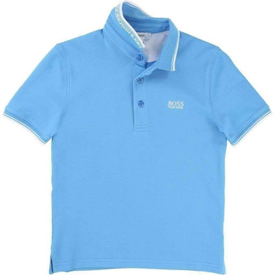 Boss Sky Blue Polo T-Shirt-Shirts-BOSS-kids atelier