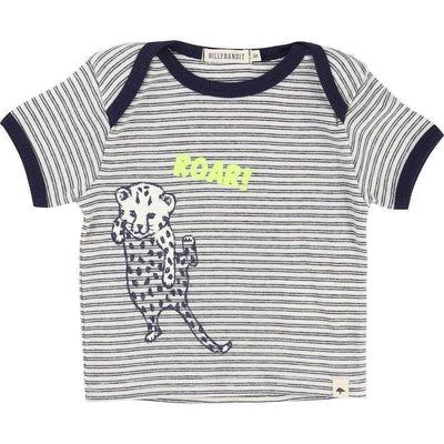 Striped Cheetah T-Shirt-Shirts-Billybandit-kids atelier
