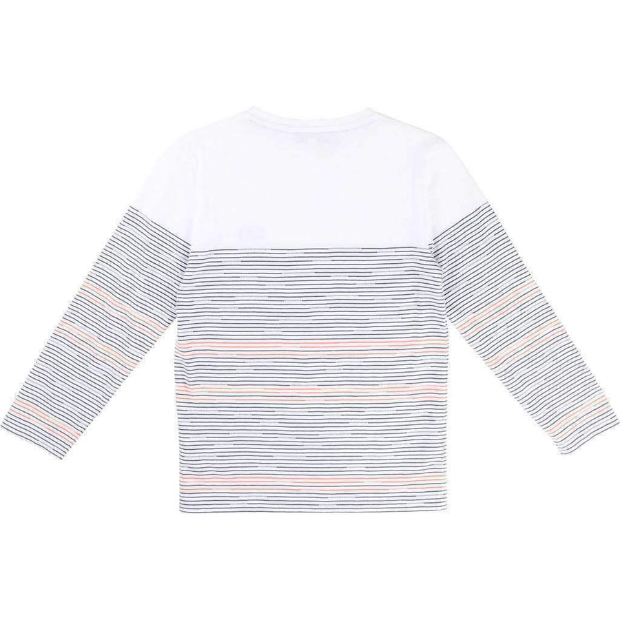 Striped Long Sleeve T-Shirt-Shirts-BOSS-kids atelier