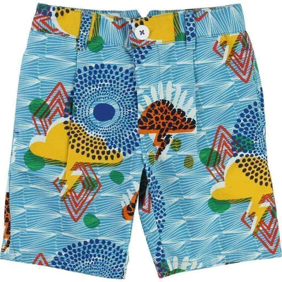 Tribal Pattern Shorts-Shorts-Billybandit-kids atelier