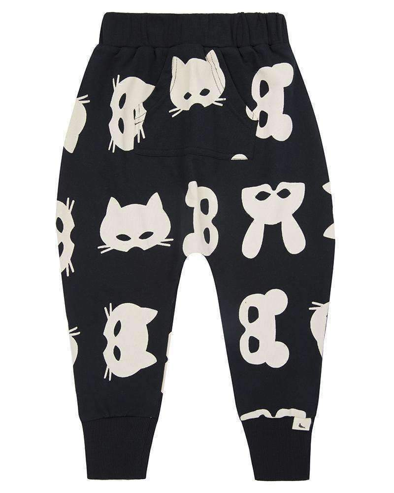 Turtledove London Black Harem Sweatpants-Pants-Turtledove London-kids atelier