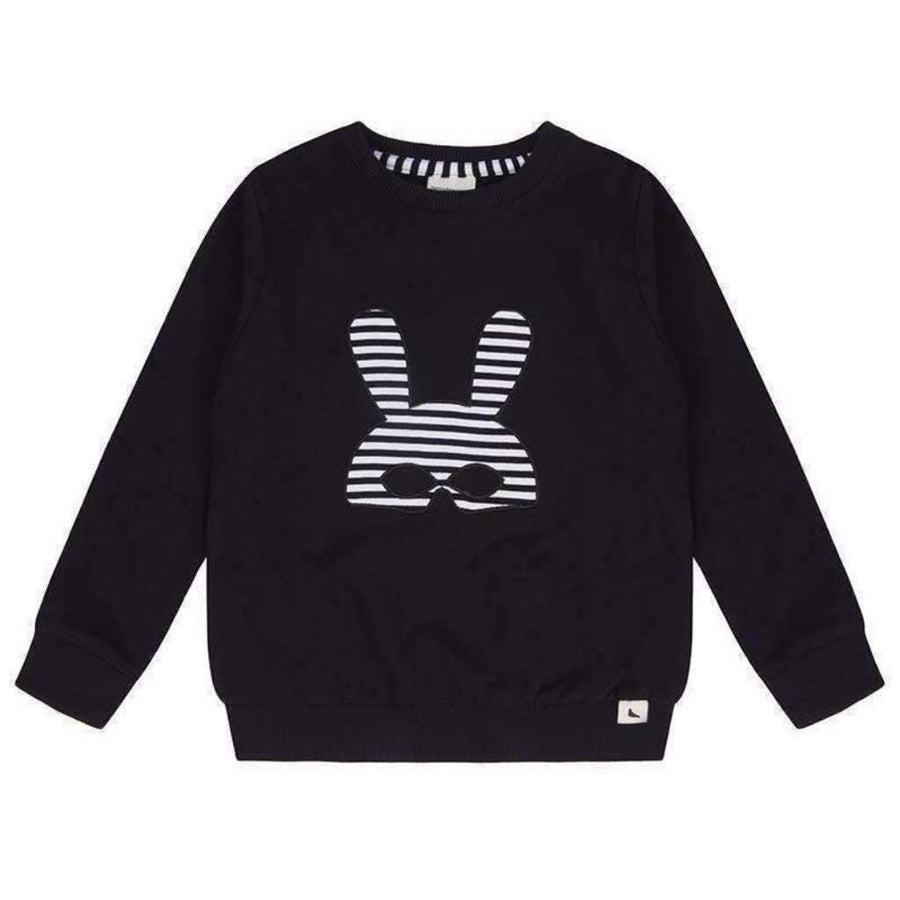 Turtledove London Black Knit Mask Sweatshirt-Shirts-Turtledove London-kids atelier