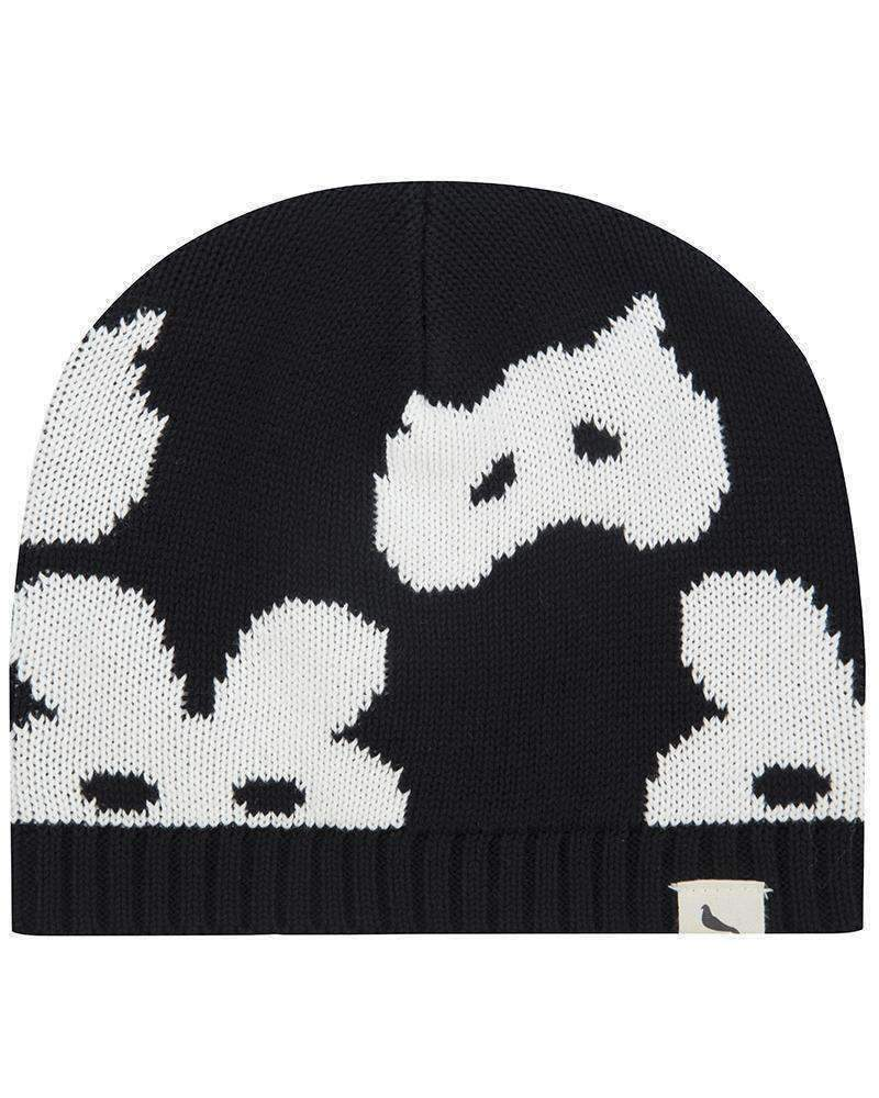 Turtledove London Black Woven Animal Masks Hat