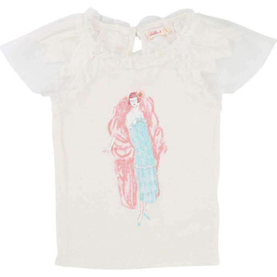 White Flapper T-Shirt-Shirts-Billieblush-kids atelier