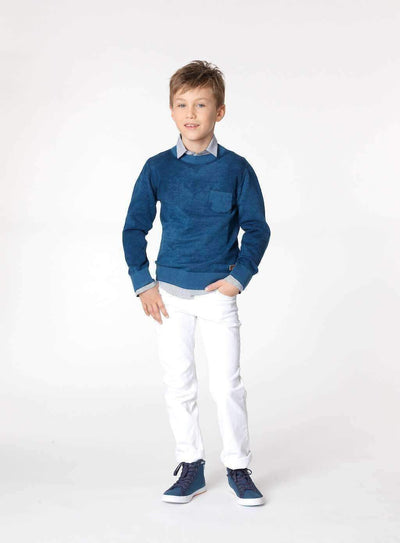 Boss White Slim Pants-Pants-BOSS-kids atelier