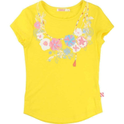 Yellow Flower T-Shirt-Shirts-Billieblush-kids atelier