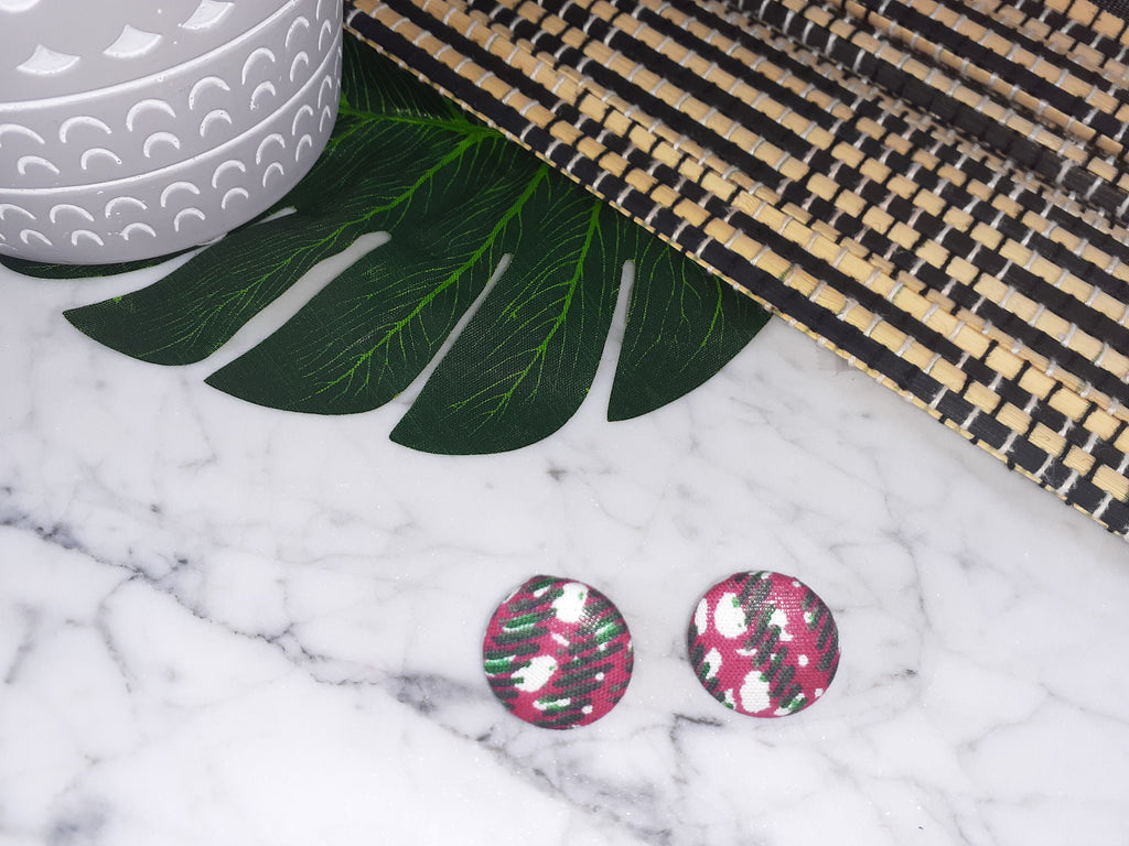 Disco Mini Button Earrings