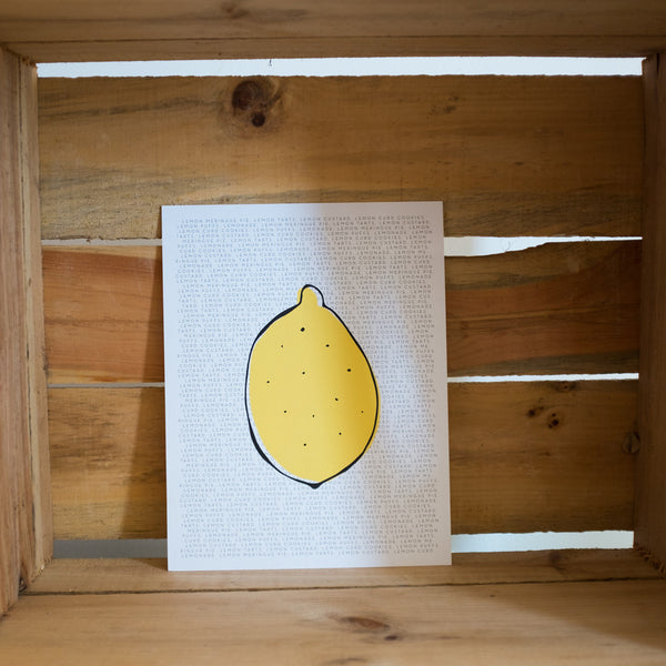 Lemon Love Print